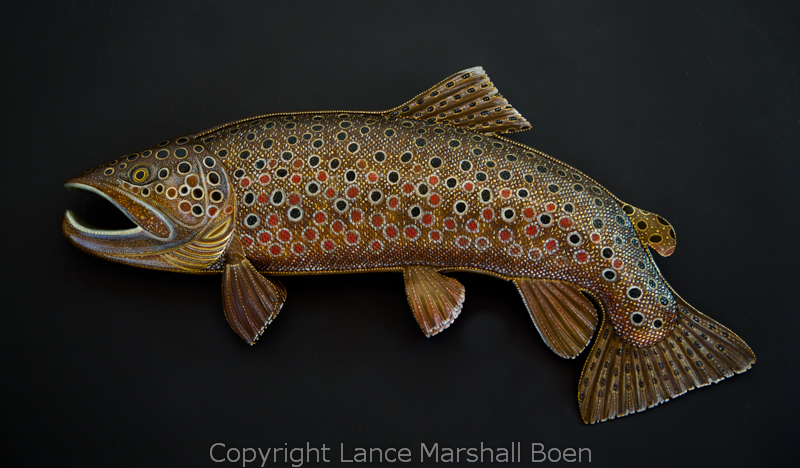 Brown Trout Sculpture