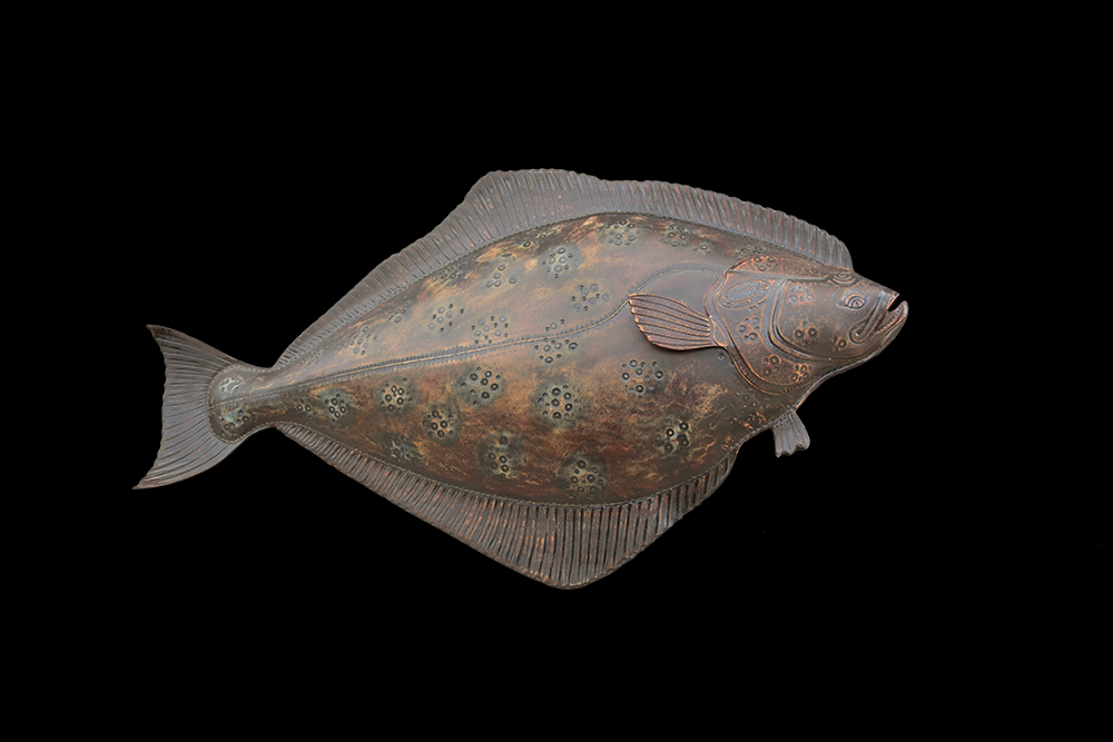 Halibut Fish Sculpture by Lance Marshall Boen
