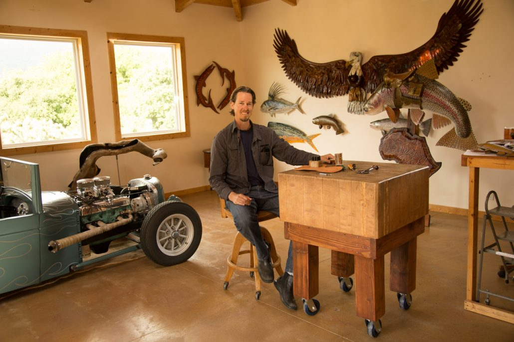 Lance Marshall Boen in his Carmel Valley Studio