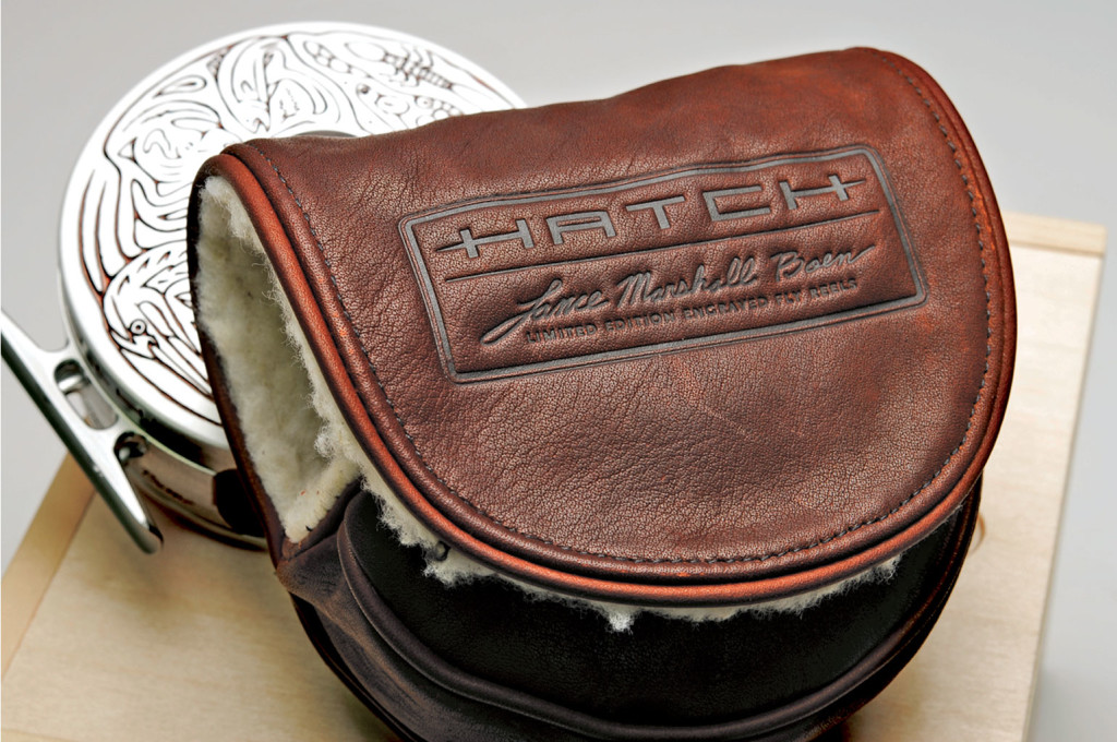 Custom Fly Reel Leather Pouch