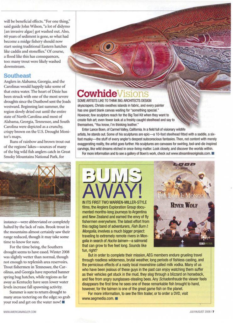 American Angler Magazine, July/August 2008